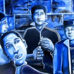 """Blue Smoke"" oil on canvas by rEN"