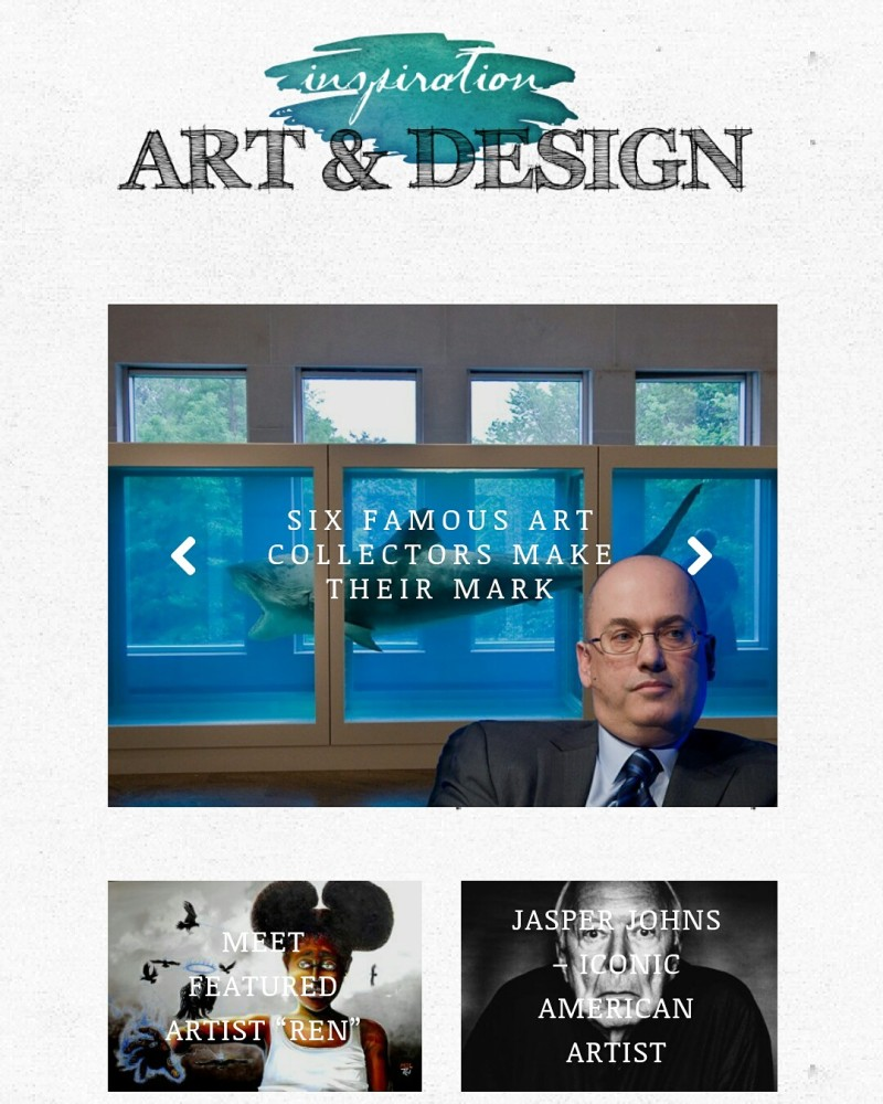 Featured Artist in ART & DESIGN INSPIRATION MAGAZINE May 2016