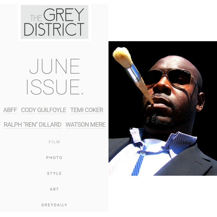 June Featured artist in the Grey District magazine 2016