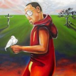 """The Dalai Hova"" oil on canvas by rEN"