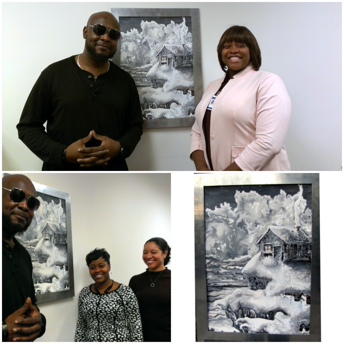 """My painting """"Refuge"""" in the Municipal Court Building City of South Fulton."""