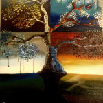 Tree of change Oil on canvas by rEN