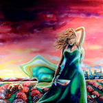 """""""Love is the death of beauty"""" oil on canvas by rEN"""