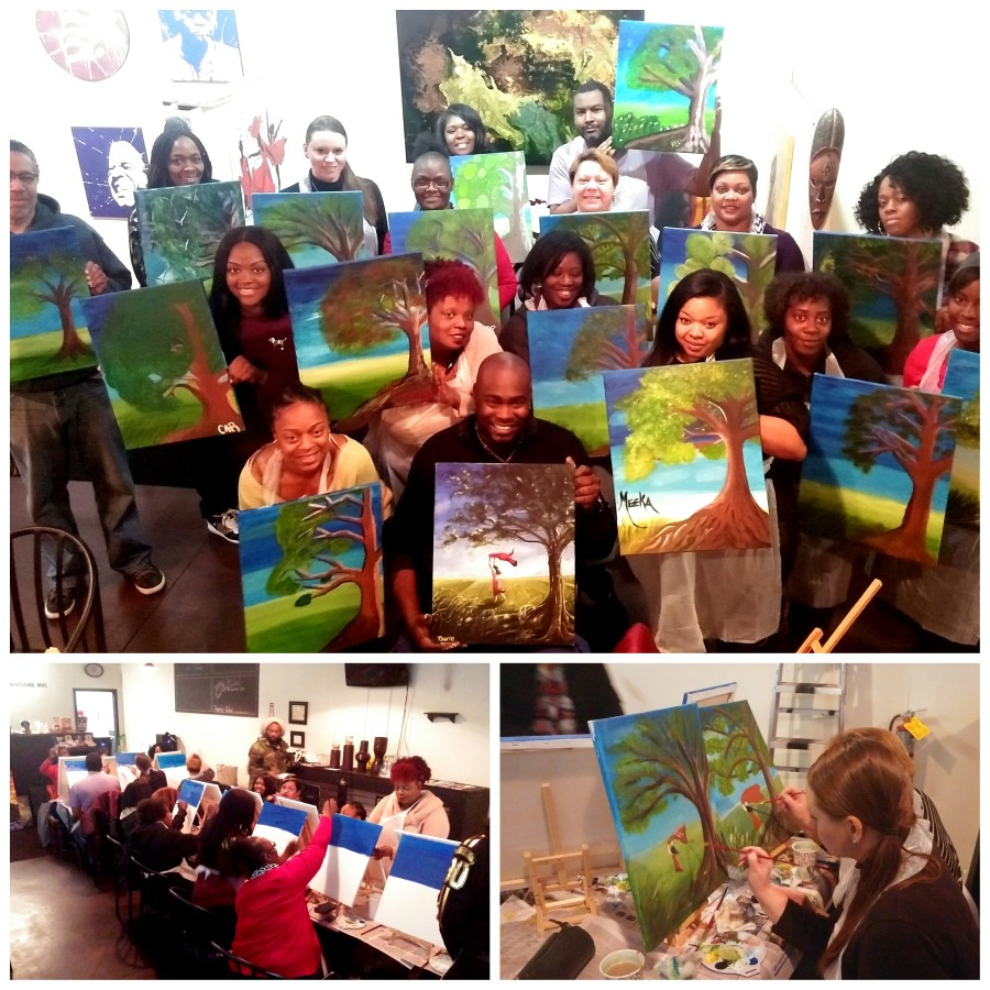 Teaching artists at Lavelle's Coffee and Gallery